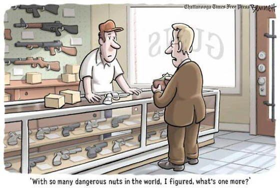 gun control cartoons nuts The Best Gun Control Cartoons And Memes