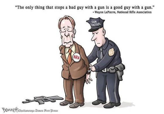 gun control cartoons wayne lapierre The Best Gun Control Cartoons And Memes