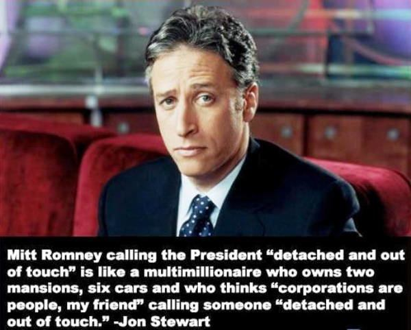 jon stewart quotes mitt romney The Best Jon Stewart Quotes Ever