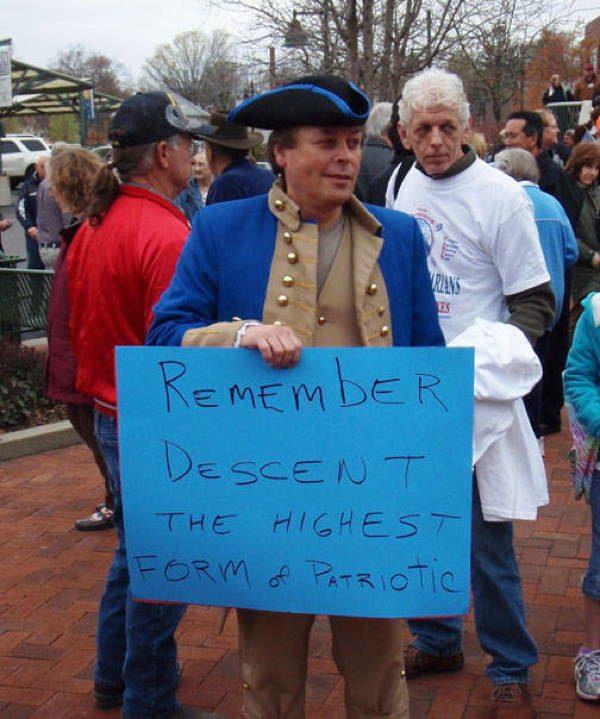 Hilarious Protest Signs Descent