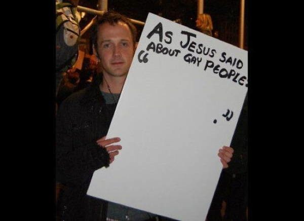 hilarious protest signs gay people The Most Hilarious Protest Signs Ever