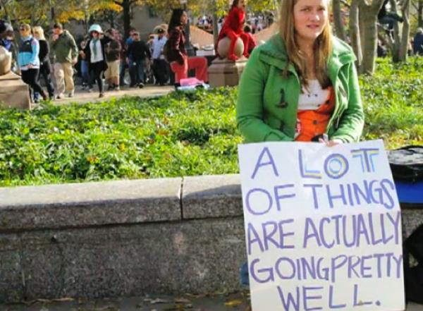 hilarious protest signs things going well The Most Hilarious Protest Signs Ever