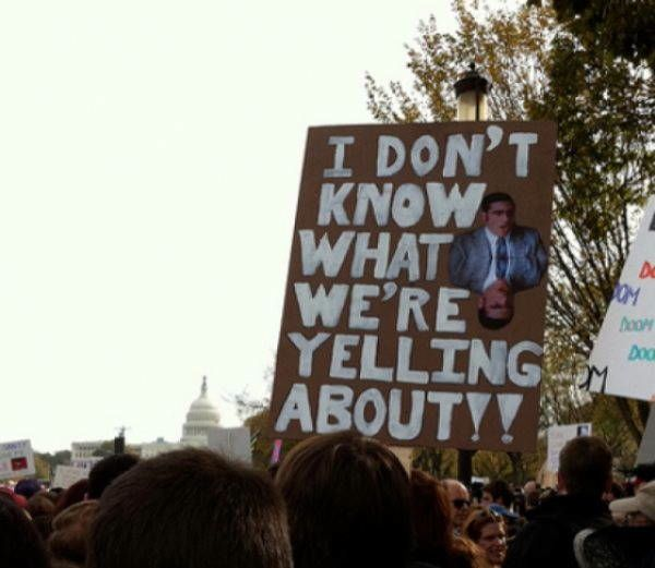 hilarious protest signs yelling about The Most Hilarious Protest Signs Ever
