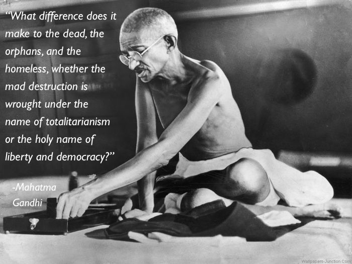 pacifism quotes gandhi Eleven Great Thoughts On Pacifism